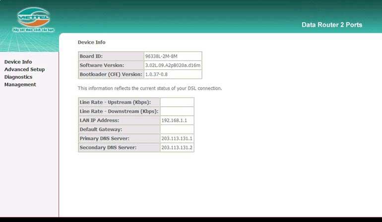 Hướng dẫn cấu hình modem wifi viettel - Viettel HCM