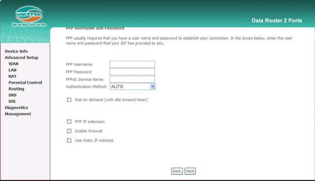 Hướng dẫn cấu hình modem wifi viettel 6