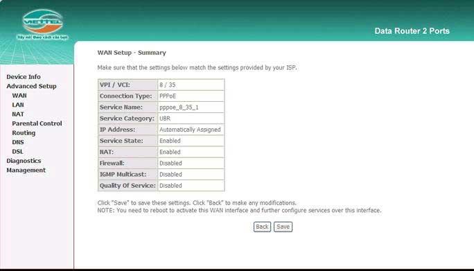 Hướng dẫn cấu hình modem wifi viettel 7
