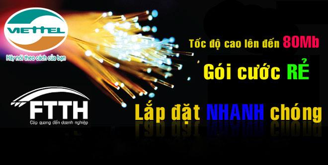 khuyến mãi internet cáp quang Viettel tháng 8-2016