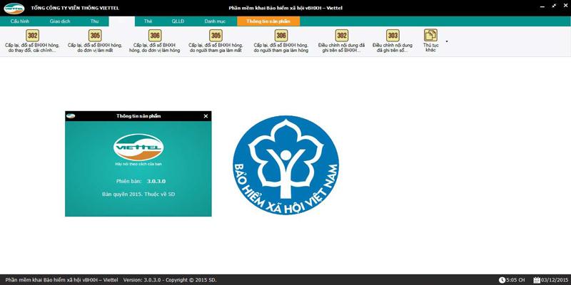 phần mềm kê khai bảo hiểm xã hội Viettel