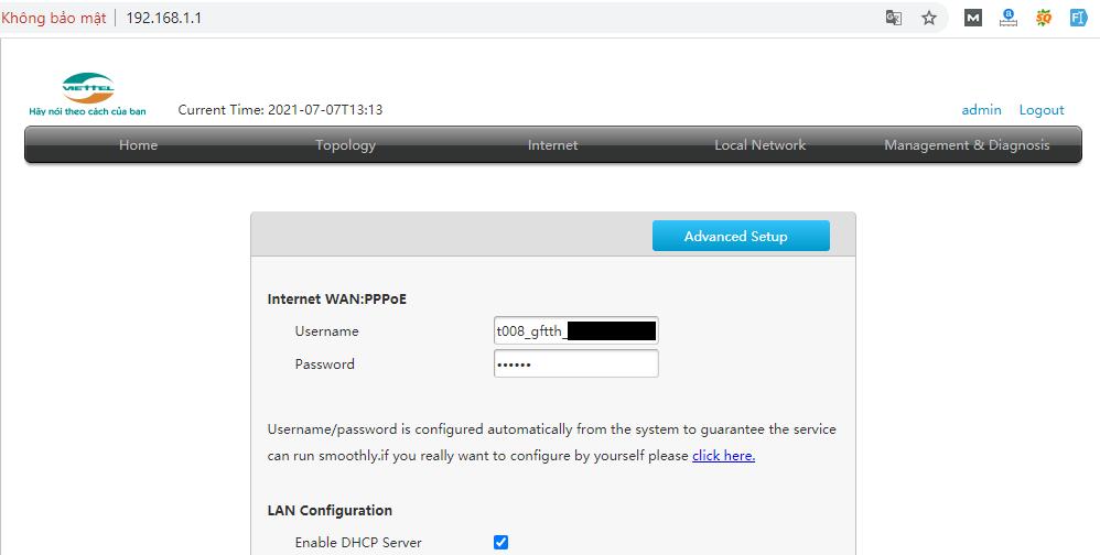 đổi mật khẩu wifi zte